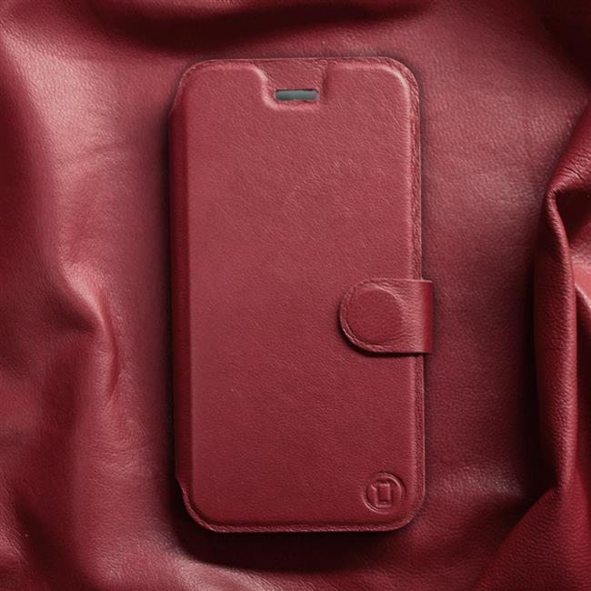 Luxusní kožené flip pouzdro Mobiwear Samsung Galaxy A52 / A52 5G / A52s 5G - Tmavě červené - L_DRS Dark Red Leather