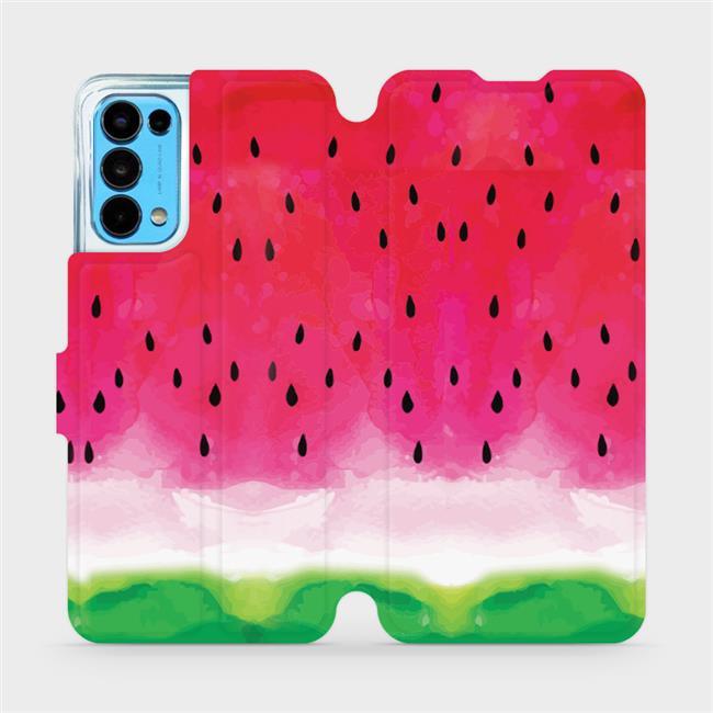 Flip pouzdro Mobiwear na mobil OPPO Reno5 5G - V086S Melounek