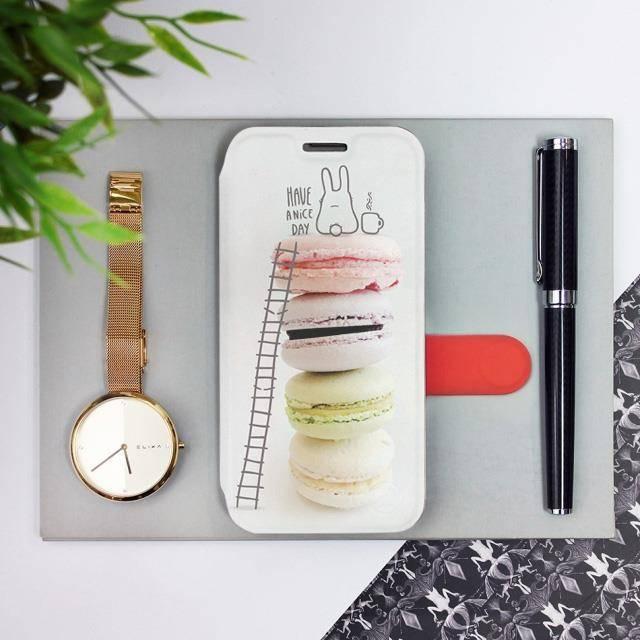 Flipové pouzdro Mobiwear na mobil Samsung Galaxy A52 / A52 5G / A52s 5G - M090P Makronky - have a nice day
