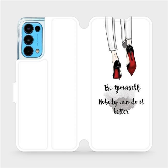 Flip pouzdro Mobiwear na mobil OPPO Reno5 5G - M046P Be yourself