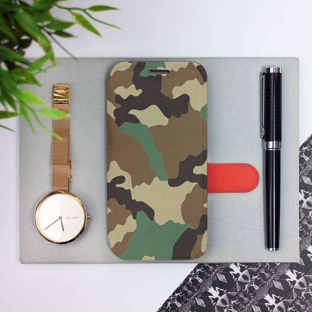 Flipové pouzdro Mobiwear na mobil Samsung Galaxy A52 / A52 5G / A52s 5G - V111P Maskáče