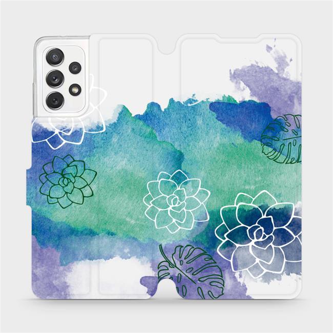 Flipové pouzdro Mobiwear na mobil Samsung Galaxy A72 - MG11S Vodovkové květy