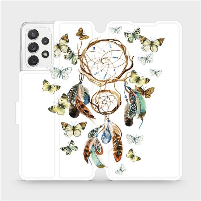 Flipové pouzdro Mobiwear na mobil Samsung Galaxy A72 - M001P Lapač a motýlci