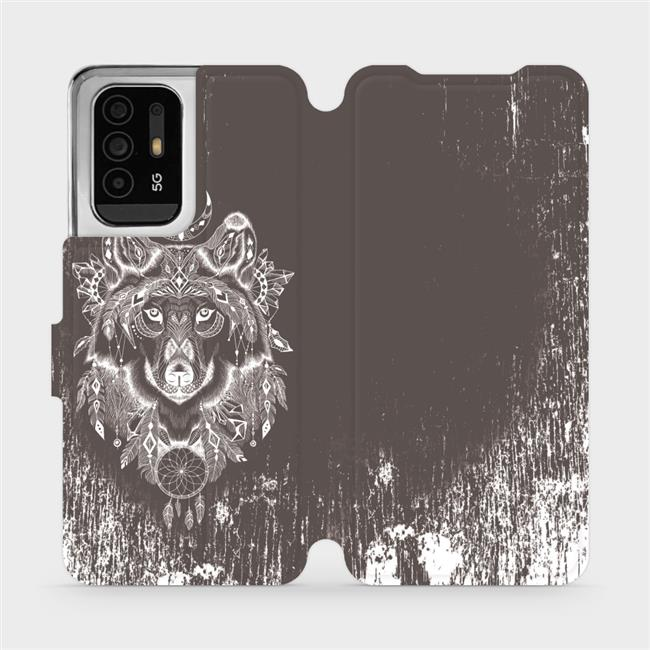 Flip pouzdro Mobiwear na mobil OPPO Reno5 Z 5G - V064P Vlk a lapač snů