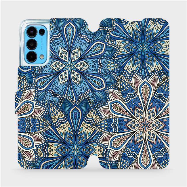 Flip pouzdro Mobiwear na mobil OPPO Reno5 5G - V108P Modré mandala květy