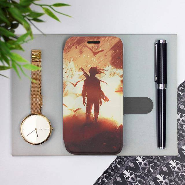 Flipové pouzdro Mobiwear na mobil Samsung Galaxy A52 / A52 5G / A52s 5G - MA06S Postava v ohni