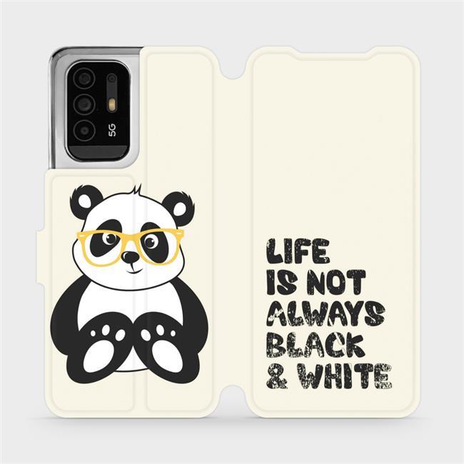 Flip pouzdro Mobiwear na mobil OPPO Reno5 Z 5G - M041S Panda - life is not always black and white