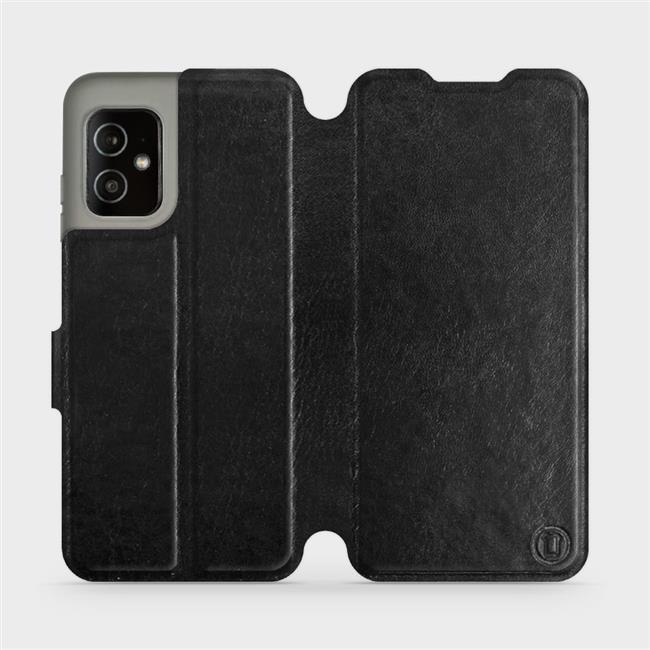 Flip pouzdro Mobiwear na mobil Asus Zenfone 8 v provedení C_BLP Black&Orange s oranžovým vnitřkem