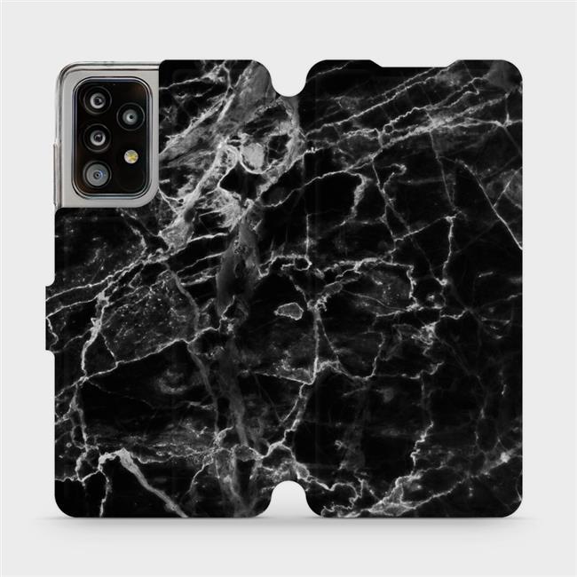 Flipové pouzdro Mobiwear na mobil Samsung Galaxy A52 / A52 5G / A52s 5G - V056P Černý mramor