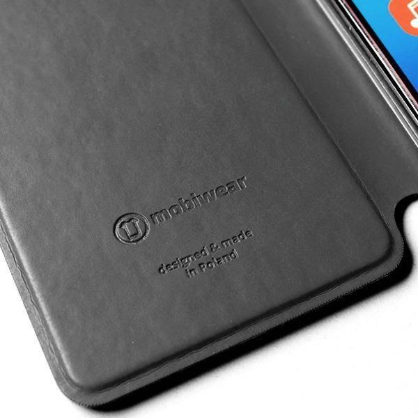 Luxusní kožené flip pouzdro Mobiwear Samsung Galaxy A72 - Černé - L_BLS Black Leather