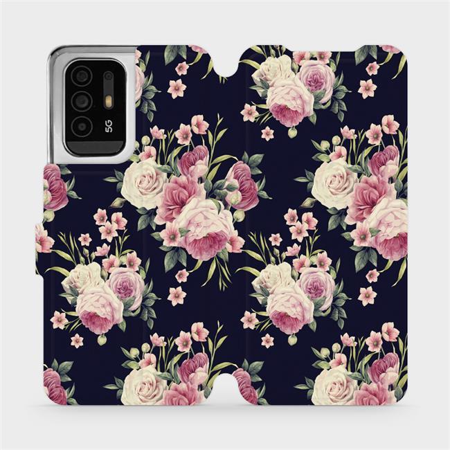 Flip pouzdro Mobiwear na mobil OPPO Reno5 Z 5G - V068P Růžičky