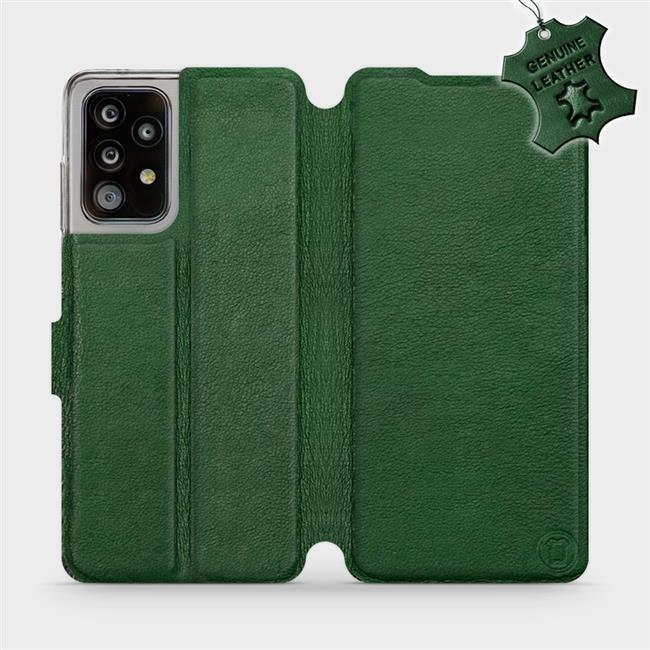 Luxusní kožené flip pouzdro Mobiwear Samsung Galaxy A52 / A52 5G / A52s 5G - Zelené - L_GRS Green Leather