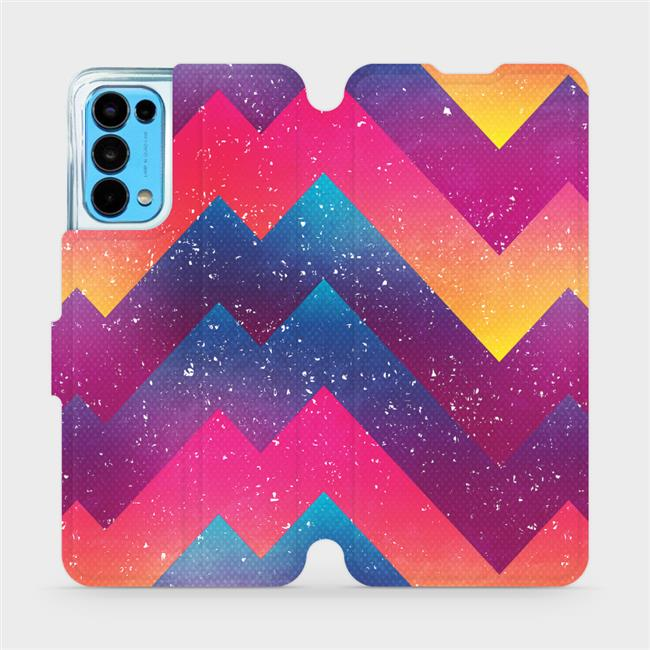 Flip pouzdro Mobiwear na mobil OPPO Reno5 5G - V110S Barevné klikyháky