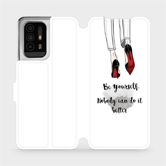 Flip pouzdro Mobiwear na mobil OPPO Reno5 Z 5G - M046P Be yourself