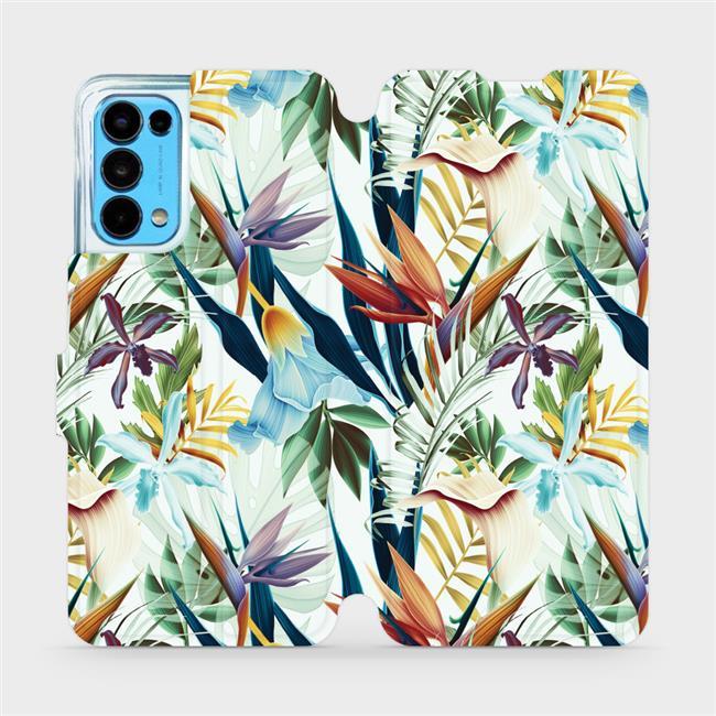Flip pouzdro Mobiwear na mobil OPPO Reno5 5G - M071P Flóra