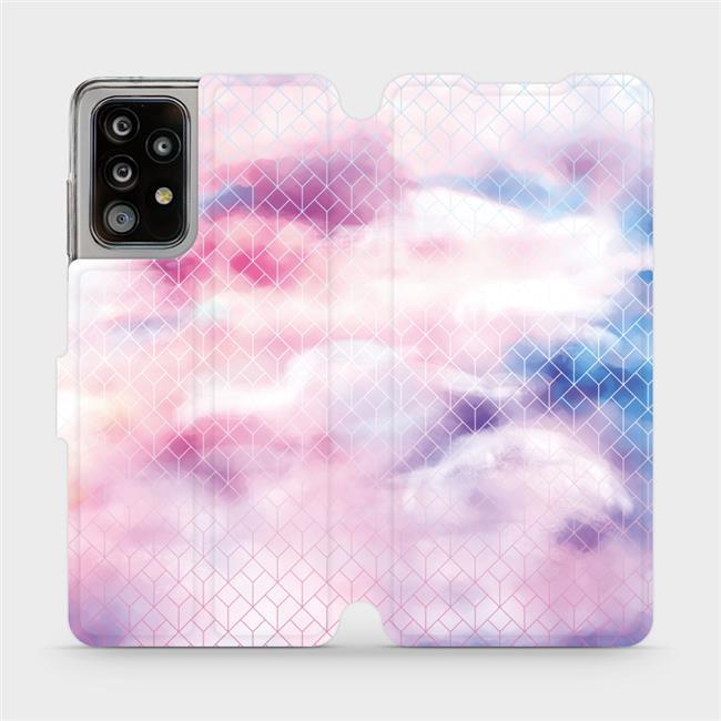 Flipové pouzdro Mobiwear na mobil Samsung Galaxy A52 / A52 5G / A52s 5G - MR02S Vodovkové obrazce