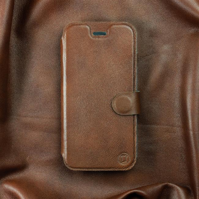Luxusní kožené flip pouzdro Mobiwear Samsung Galaxy A72 - Hnědé - L_BRS Brown Leather