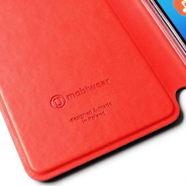 Flipové pouzdro Mobiwear na mobil Samsung Galaxy A52 / A52 5G / A52s 5G v provedení C_GOP Gold&Orange s oranžovým vnitřkem