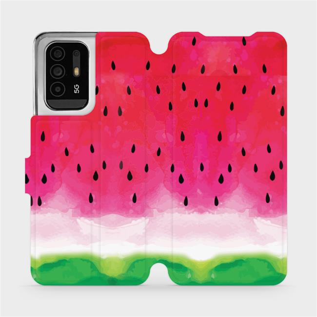 Flip pouzdro Mobiwear na mobil OPPO Reno5 Z 5G - V086S Melounek