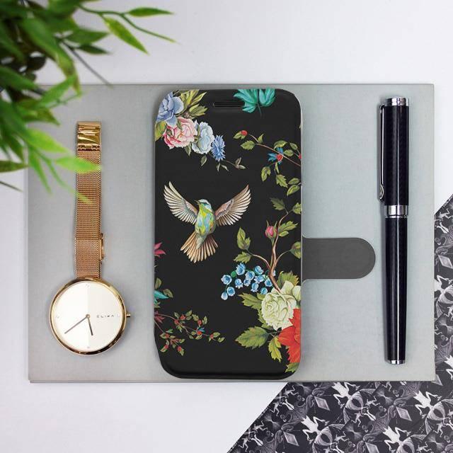 Flipové pouzdro Mobiwear na mobil Samsung Galaxy A72 - VD09S Ptáčci a květy