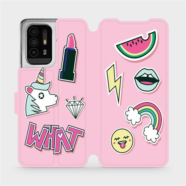 Flip pouzdro Mobiwear na mobil OPPO Reno5 Z 5G - M129S Růžové WHAT