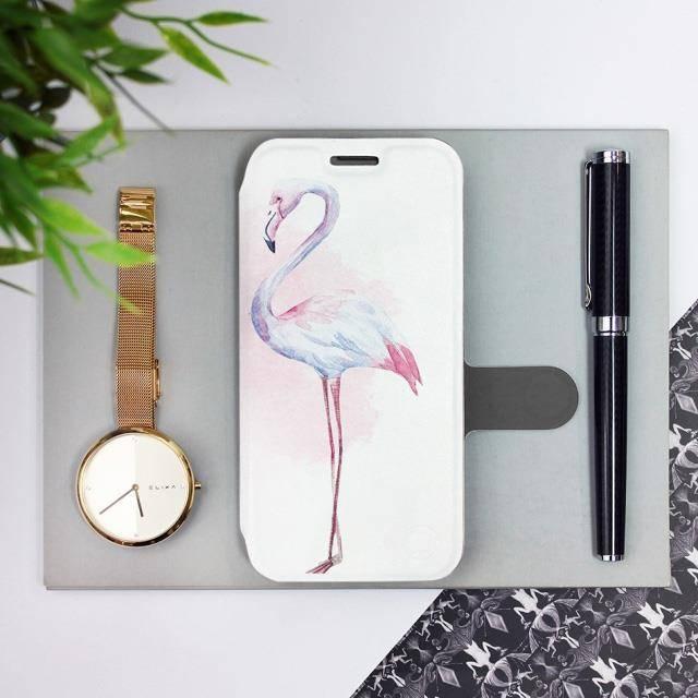 Flipové pouzdro Mobiwear na mobil Samsung Galaxy A72 - M005S Plameňáci