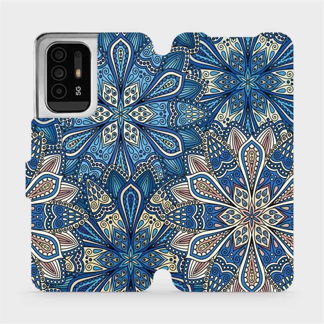 Flip pouzdro Mobiwear na mobil OPPO Reno5 Z 5G - V108P Modré mandala květy