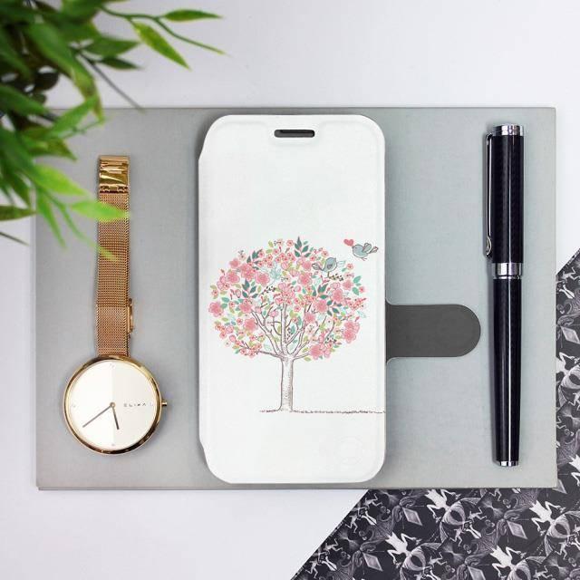 Flipové pouzdro Mobiwear na mobil Samsung Galaxy A52 / A52 5G / A52s 5G - M120S Strom a ptáčci