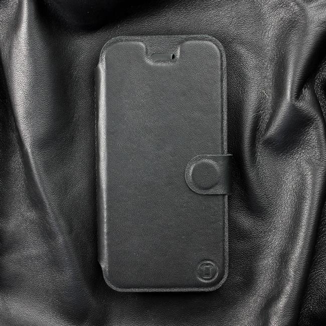 Luxusní kožené flip pouzdro Mobiwear Samsung Galaxy Xcover 5 - Černé - L_BLS Black Leather - poslední kousky za tuto cenu