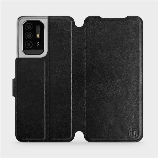 Flip pouzdro Mobiwear na mobil OPPO Reno5 Z 5G v provedení C_BLS Black&Gray s šedým vnitřkem