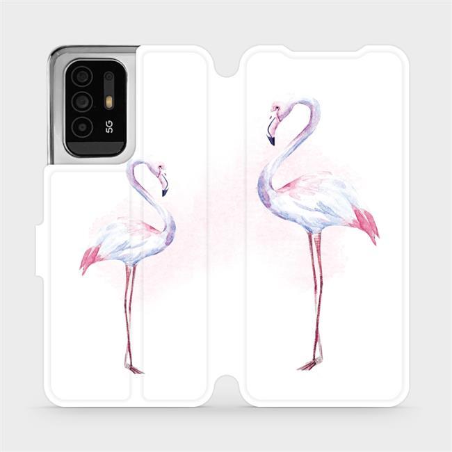 Flip pouzdro Mobiwear na mobil OPPO Reno5 Z 5G - M005S Plameňáci
