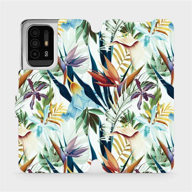 Flip pouzdro Mobiwear na mobil OPPO Reno5 Z 5G - M071P Flóra