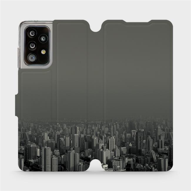 Flipové pouzdro Mobiwear na mobil Samsung Galaxy A52 / A52 5G / A52s 5G - V063P Město v šedém hávu