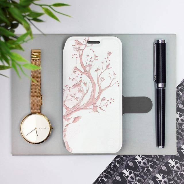Flipové pouzdro Mobiwear na mobil Samsung Galaxy A72 - M007S Růžový jelínek