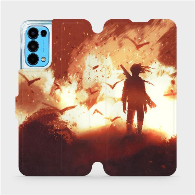 Flip pouzdro Mobiwear na mobil OPPO Reno5 5G - MA06S Postava v ohni