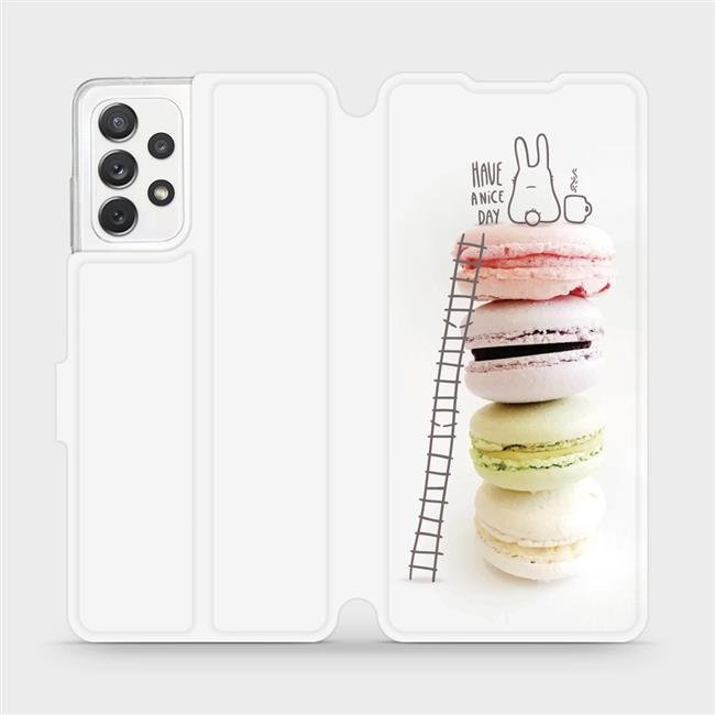 Flipové pouzdro Mobiwear na mobil Samsung Galaxy A72 - M090P Makronky - have a nice day
