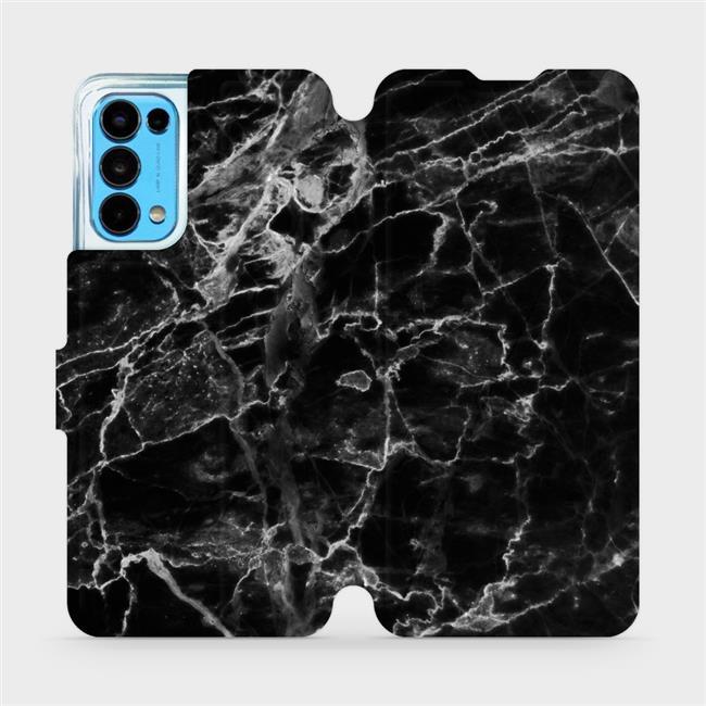 Flip pouzdro Mobiwear na mobil OPPO Reno5 5G - V056P Černý mramor