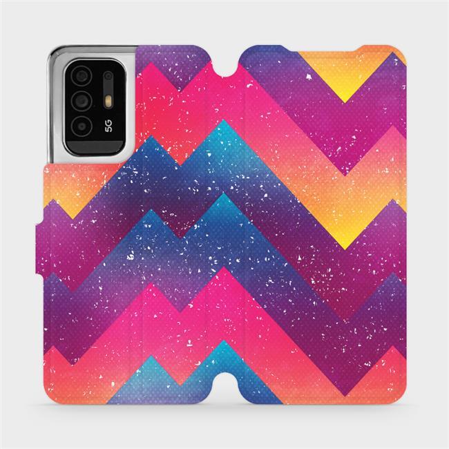 Flip pouzdro Mobiwear na mobil OPPO Reno5 Z 5G - V110S Barevné klikyháky