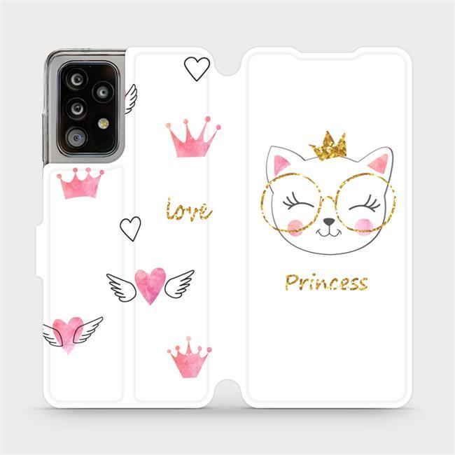 Flipové pouzdro Mobiwear na mobil Samsung Galaxy A52 / A52 5G / A52s 5G - MH03S Kočička princess
