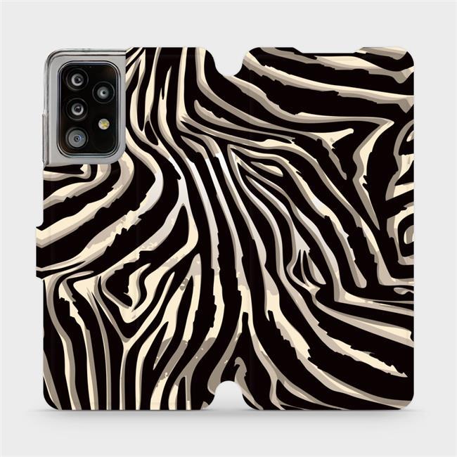 Flipové pouzdro Mobiwear na mobil Samsung Galaxy A52 / A52 5G / A52s 5G - VA31P Zebří vzor