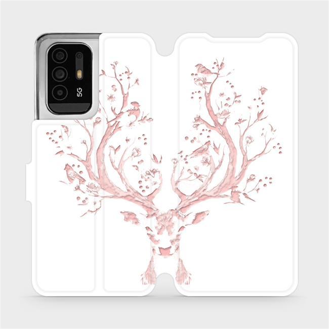 Flip pouzdro Mobiwear na mobil OPPO Reno5 Z 5G - M007S Růžový jelínek