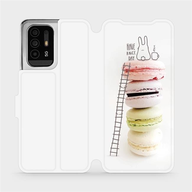 Flip pouzdro Mobiwear na mobil OPPO Reno5 Z 5G - M090P Makronky - have a nice day