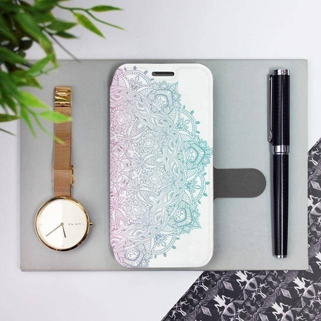 Flipové pouzdro Mobiwear na mobil Samsung Galaxy A72 - M008S Mandala