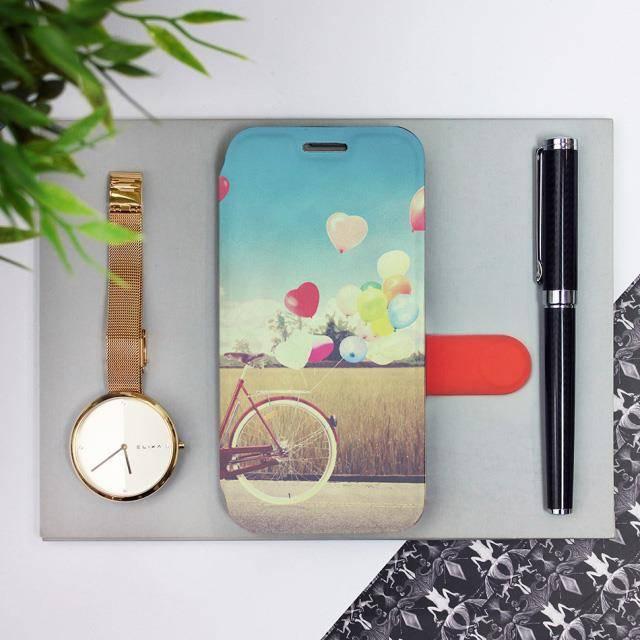 Flipové pouzdro Mobiwear na mobil Samsung Galaxy A72 - M133P Kolo a balónky