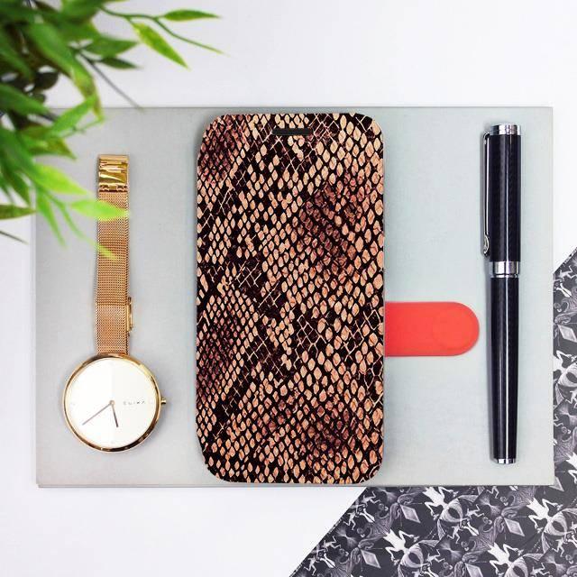 Flipové pouzdro Mobiwear na mobil Samsung Galaxy A52 / A52 5G / A52s 5G - VA32P Hadí vzor