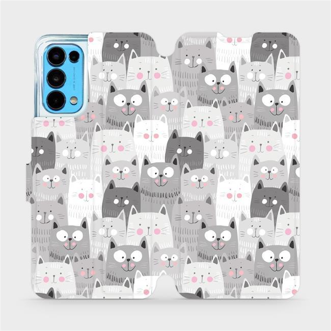 Flip pouzdro Mobiwear na mobil OPPO Reno5 5G - M099P Kočičky