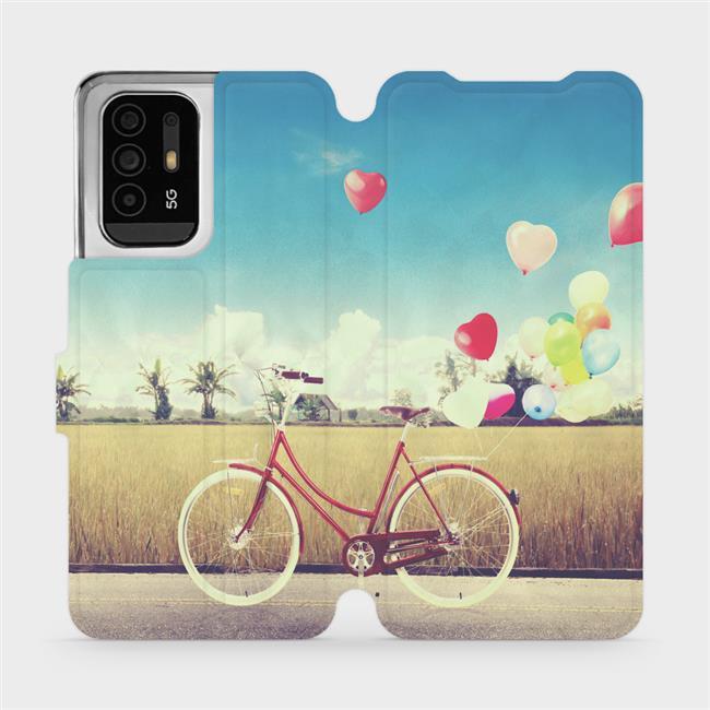 Flip pouzdro Mobiwear na mobil OPPO Reno5 Z 5G - M133P Kolo a balónky