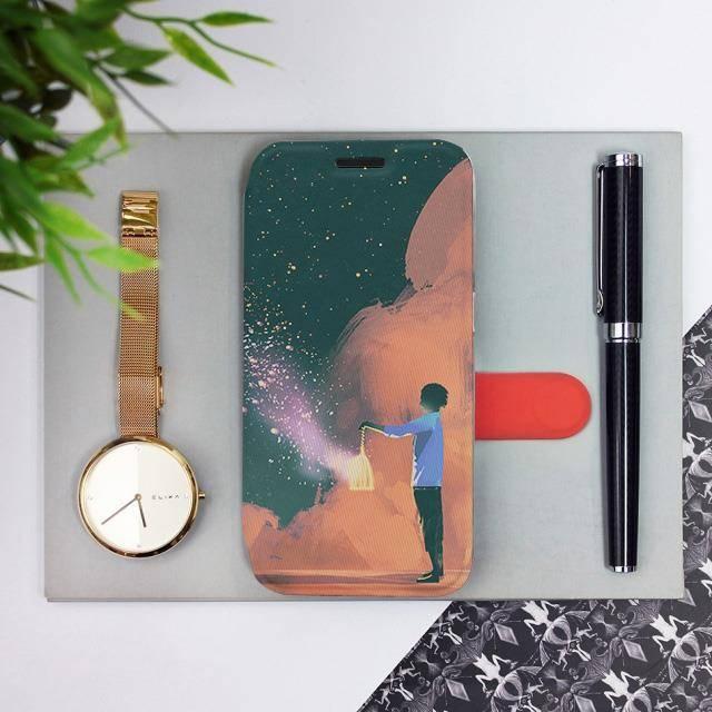 Flipové pouzdro Mobiwear na mobil Samsung Galaxy A52 / A52 5G / A52s 5G - VA14P Postava s lampou