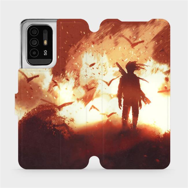 Flip pouzdro Mobiwear na mobil OPPO Reno5 Z 5G - MA06S Postava v ohni