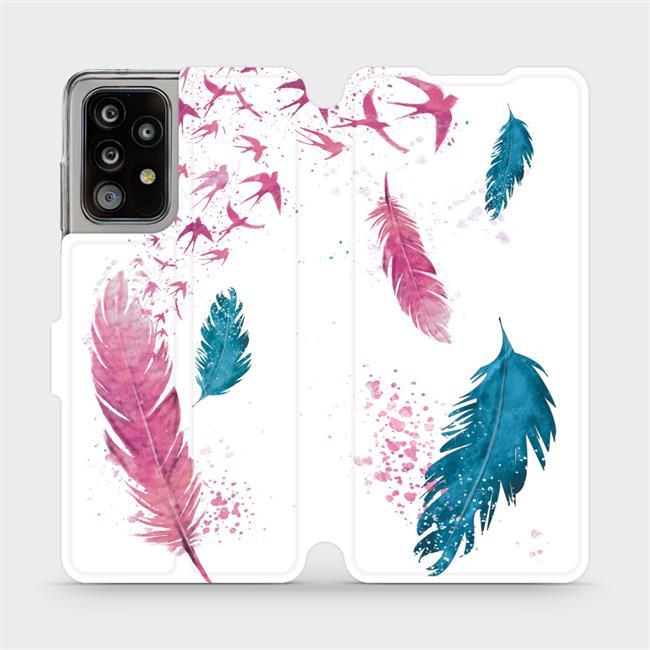 Flipové pouzdro Mobiwear na mobil Samsung Galaxy A52 / A52 5G / A52s 5G - MR08S Pírka